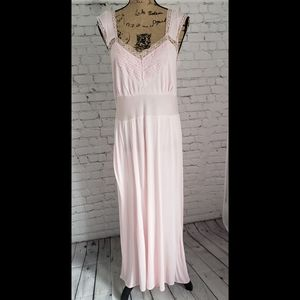 Vintage 30s 40s Lady Edso Pink Dainty Night Gown